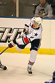 March 13, 2009:  Defenseman Keaton Ellerby (8) of the Rochester Amerks, AHL affiliate of the Florida Panthers, in the second period during a game at the Blue Cross Arena in Rochester, NY.  Toronto defeated Rochester 4-2.  Photo copyright Mike Janes Photography 2009