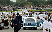 10th September 2017, Goodwood Estate, Chichester, England; Goodwood Revival Race Meeting; Cars receive final checks before race start