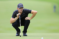 Thomas Pieters (BEL) on the 9th green during Sunday's Final Round of the WGC Bridgestone Invitational 2017 held at Firestone Country Club, Akron, USA. 6th August 2017.<br /> Picture: Eoin Clarke | Golffile<br /> <br /> <br /> All photos usage must carry mandatory copyright credit (&copy; Golffile | Eoin Clarke)