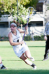 Los Angeles, CA 02/08/13 - Kat DeRonda  (Northwestern #4) in action during the Northwestern vs UMass NCAA Women's Lacrosse game at USC's McAlister Field.