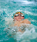 Willow Creek's Kade Brasher competes in the 100 yard IM race during the 53rd annual Country Club Swimming Championships on Tuesday, Aug. 7, 2012, in Kearns, Utah. (© 2012 Douglas C. Pizac)