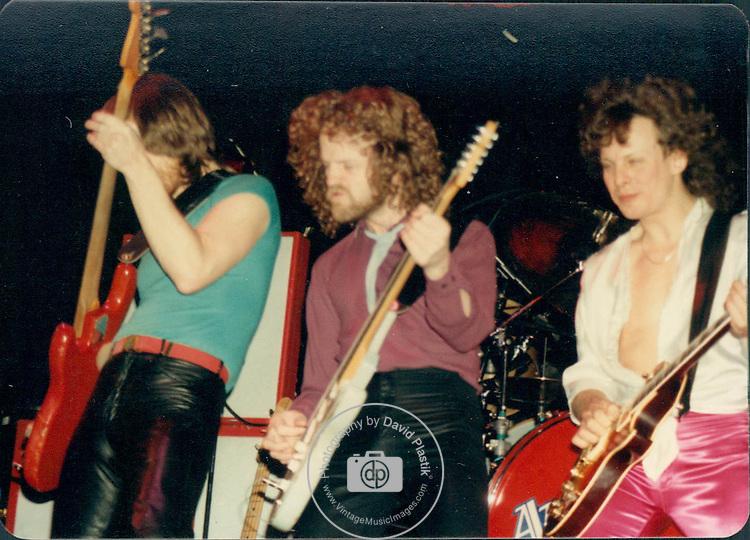 April Wine members Gary Moffet,  Brian Greenway Steve Lang