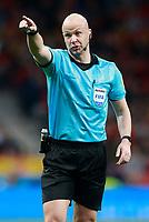 English referee Anthony Taylor during international friendly match. March 27,2018. *** Local Caption *** © pixathlon<br /> Contact: +49-40-22 63 02 60 , info@pixathlon.de