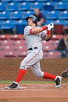 Chris Marrero #35 of the Potomac Nationals follows through on his swing versus the Winston-Salem Dash at Wake Forest Baseball Stadium May 8, 2009 in Winston-Salem, North Carolina. (Photo by Brian Westerholt / Four Seam Images)