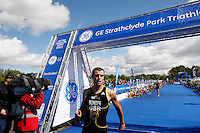 Photo: Richard Lane/Richard Lane Photography. GE Strathclyde Park Triathlon. 22/05/2011. Elite Men race. Adam Bowden.