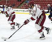 Jacob Olson (Harvard - 26) - The Harvard University Crimson defeated the US National Team Development Program's Under-18 team 5-2 on Saturday, October 8, 2016, at the Bright-Landry Hockey Center in Boston, Massachusetts.