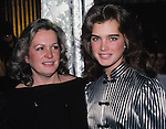 Brooke Shields and mom Teri Shields at Regine's, New York City. 1984