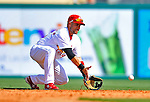 3 March 2011: St. Louis Cardinals' infielder Skip Schumaker in action during a Spring Training game against the Washington Nationals at Roger Dean Stadium in Jupiter, Florida. The Cardinals defeated the Nationals 7-5 in Grapefruit League action. Mandatory Credit: Ed Wolfstein Photo