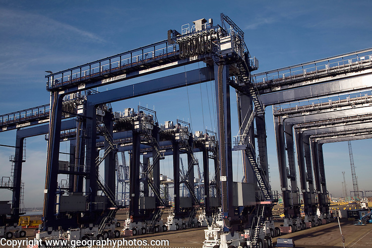 Port of Felixstowe, Suffolk, England Container cranes,