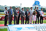 FUCHU,JAPAN-JUNE 03: Mozu Ascot's connections are given Breeders' Cup award after winning the Yasuda Kinen at Tokyo Racecourse on June 3,2018 in Fuchu,Tokyo,Japan (Photo by Kaz Ishida/Eclipse Sportswire/Getty Images)