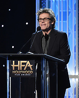 BEVERLY HILLS - NOVEMBER 3: Willem Dafoe appears onstage at the 2019 Hollywood Film Awards at the Beverly Hilton on November 3, 2019 in Beverly Hills, California. (Photo by Frank Micelotta/PictureGroup)