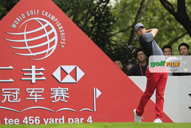 Rory McIlroy (NIR) on the 5th tee during the final round of the WGC-HSBC Champions, Sheshan International GC, Shanghai, China PR.  30/10/2016<br /> Picture: Golffile | Fran Caffrey<br /> <br /> <br /> All photo usage must carry mandatory copyright credit (&copy; Golffile | Fran Caffrey)