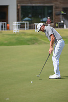 Jimmy Walker (USA) watches his putt on 18 during round 3 of the AT&amp;T Byron Nelson, Trinity Forest Golf Club, at Dallas, Texas, USA. 5/19/2018.<br /> Picture: Golffile | Ken Murray<br /> <br /> <br /> All photo usage must carry mandatory copyright credit (&copy; Golffile | Ken Murray)