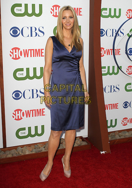 Lisa Kudrow.CBS, CW and Showtime Summer 2011 TCA Party held at The Pagoda, Beverly Hills, California, USA..August 3rd, 2011.full length sleeveless silk satin dress blue.CAP/ADM/KB.©Kevan Brooks/AdMedia/Capital Pictures.