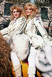 Judy and Audrey Landers at the Thanksgiving Day Parade in 1985.