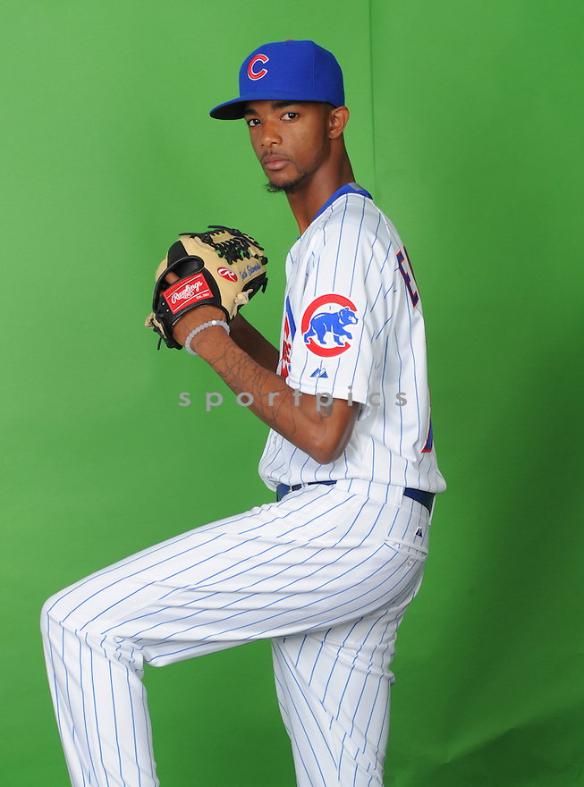 Chicago Cubs CJ Edwards (7) during photo day on March 2, 2015 in Mesa, AZ.
