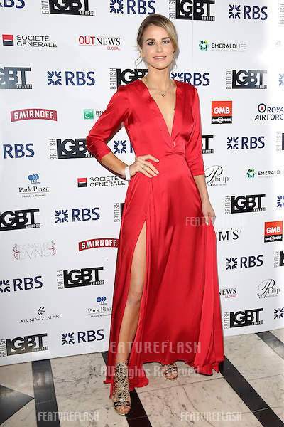 Vogue Williams at The British LGBT Awards at the Grand Connaught Rooms, London.<br /> May 13, 2016  London, UK<br /> Picture: James Smith / Featureflash