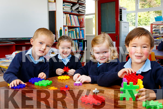 Little Stars<br /> --------------<br /> Starting their first day a school last Wednesday in Clogher NS, Ballymac are Roisin Burke, Sean Kelly, Charlotte Collins and Jake Sugrue.