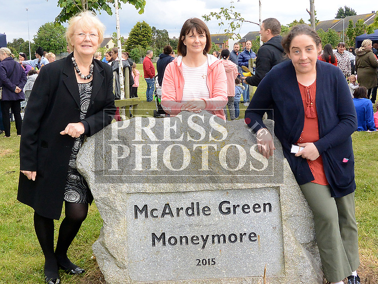 Connect Family Resourse Centre members Theresa Morley Admin, Mairead Davis Cordinator, and Majella Matthews Chairperson at the 10th anniversary celebrations of McArdle Green estate in Moneymore. Photo:Colin Bell/pressphotos.ie