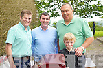 Pictured at Ballyfinnane Fun Day on Sunday, from left: Peter O'Connor, James Lynch, Chris Millard and Cormac Grey..