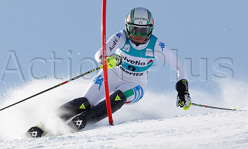 29.01.2012.  Ski Alpine FIS WC St Moritz Super Combination women  Ski Alpine FIS World Cup Super combination for women Slalom Picture shows Johanna Schnarf ITA
