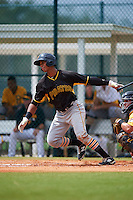 Pittsburgh Pirates Sandy Santos (22) during an instructional league intrasquad black and gold game on September 18, 2015 at Pirate City in Bradenton, Florida.  (Mike Janes/Four Seam Images)