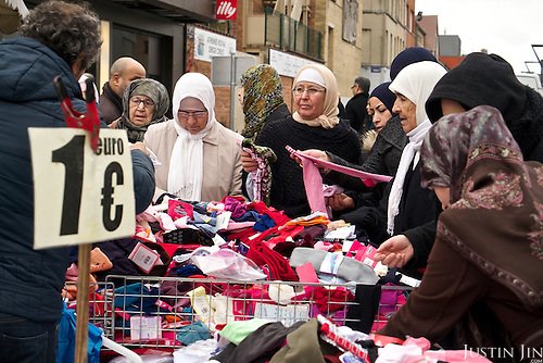 A market at Brussels' Molenbeek neighbourhood, a hotbed of Islamic radicalism.
