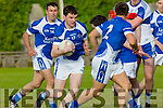 In Action Rahilly's Shane Brosnan with support from John O'Connor and Danny O'Sullivan in the  Senior County League Kerins O'Rahilly V Castleisland Desmonds at Strand Road Ground on Saturday