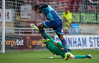 Myles Weston of Wycombe Wanderers scores his goal during the Sky Bet League 2 match between Leyton Orient and Wycombe Wanderers at the Matchroom Stadium, London, England on 1 April 2017. Photo by Andy Rowland.