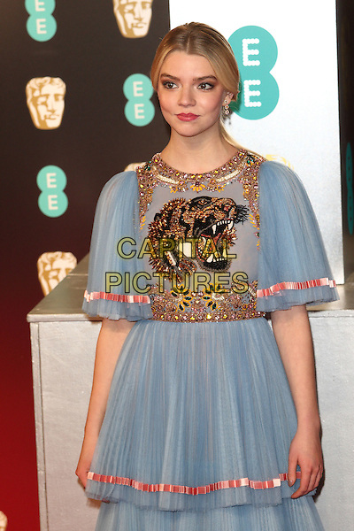 Anya Taylor-Joy at the 70th British Academy Awards - BAFTAS - arrivals at the Royal Albert Hall, London on February 12th 2017<br /> CAP/ROS<br /> &copy;Steve Ross/Capital Pictures