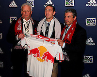 Corey Hertzog with Red Bulls staff at the 2011 MLS Superdraft, in Baltimore, Maryland on January 13, 2010.