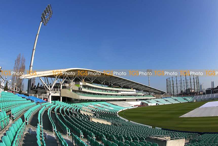 General view of the ground ahead of Surrey CCC vs Middlesex CCC, Friendly Match Cricket at the Kia Oval on 22nd March 2016