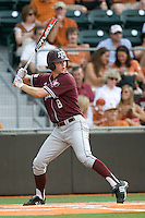 Texas A&M Aggies outfielder Brandon Wood #8 at bat against the Texas Longhorns in NCAA Big XII Conference baseball on May 21, 2011 at Disch Falk Field in Austin, Texas. (Photo by Andrew Woolley / Four Seam Images)