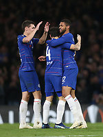 Chelsea's Ruben Loftus-Cheek is congratulated after scoring his side's third goal<br /> <br /> Photographer Rob Newell/CameraSport<br /> <br /> UEFA Europa League Group L - Chelsea v FC BATE Borisov - Thursday 25th October - Stamford Bridge - London<br />  <br /> World Copyright © 2018 CameraSport. All rights reserved. 43 Linden Ave. Countesthorpe. Leicester. England. LE8 5PG - Tel: +44 (0) 116 277 4147 - admin@camerasport.com - www.camerasport.com