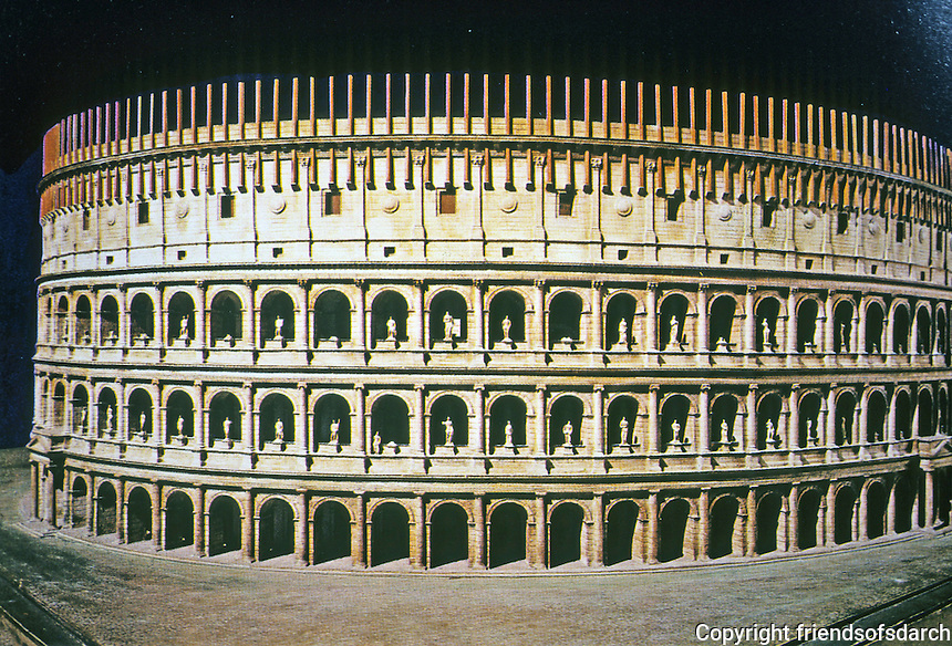 Iraly: Rome--Model, The Coloseum or Flavian Amphitheater, 72-80 A.D.