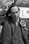 """Thorpe works for us."" Jeremy Thorpe on the election campaign trail mid Devon constituency 1979"
