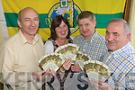 GOLDEN TICKETS: Peter Twiss, Secretary County Board, Breda O'Callaghan, County Board staff, Weeshie Lynch, Asst Treasurer County Board, and John O'Carroll, Treasurer County Board sorting out All Ireland tickets at the County Board pavilion on Tuesday evening.
