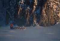 P Gebhardt Mushes on Yukon River 2000 Iditarod AK
