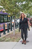 Washington DC, October 8,2019 USA-Lavern Cox,a Transgender actor, arrives at the US Supreme Court to hear arguements involving discrmination against the Lesbian, Gay, Bi-Sexual and Transgender (LGBT) community in Washington DC.The US Supreme Court heard arguments for and against Lesbian,Gay,Bi-Sexual and Transgender (LGBT) discrimination in Washington DC. Protestors on both sides gathered at the steps of the Supreme Court, after the area was shut down due to an earlier bomb scare and later reopened.  <br /> CAP/MPI/PYL<br /> ©PYL/MPI/Capital Pictures