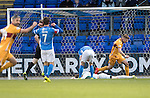 St Johnstone v Motherwell&hellip;17.12.16     McDiarmid Park    SPFL<br />Zander Clark lies on the pitch after his howler gifted Richard Tait the opening goal<br />Picture by Graeme Hart.<br />Copyright Perthshire Picture Agency<br />Tel: 01738 623350  Mobile: 07990 594431