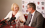 Ann Budge unveils Craig Levein as the new Hearts manager