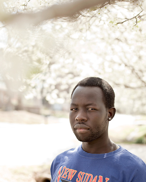 March 24, 2010. Garner, North Carolina.. Portraits of Mariak Chuor, who fled the viloence in Sudan and now lives in the United States.