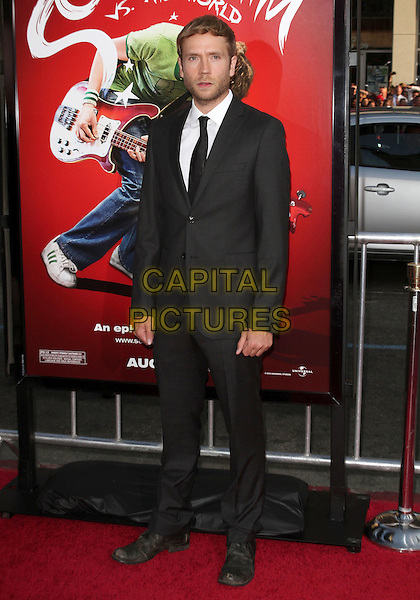 "MARK WEBBER.""Scott Pilgrim Vs. The World"" Los Angeles Premiere held at The Grauman;s Chinese Theatre, Hollywood, CA, USA..July 27th, 2010.full length black suit  .CAP/ADM/KB.©Kevan Brooks/AdMedia/Capital Pictures."