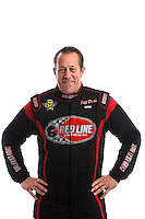 Feb 8, 2017; Pomona, CA, USA; NHRA funny car driver Jeff Diehl poses for a portrait during media day at Auto Club Raceway at Pomona. Mandatory Credit: Mark J. Rebilas-USA TODAY Sports