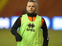 Blackpool's Jay Spearing during the pre-match warm-up <br /> <br /> Photographer Stephen White/CameraSport<br /> <br /> Emirates FA Cup Third Round - Blackpool v Arsenal - Saturday 5th January 2019 - Bloomfield Road - Blackpool<br />  <br /> World Copyright © 2019 CameraSport. All rights reserved. 43 Linden Ave. Countesthorpe. Leicester. England. LE8 5PG - Tel: +44 (0) 116 277 4147 - admin@camerasport.com - www.camerasport.com