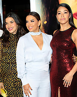 "LOS ANGELES - JAN 30:  America Ferrera, Eva Longoria, Gina Rodriguez at the ""Miss Bala"" Premiere at the Regal LA Live on January 30, 2019 in Los Angeles, CA"