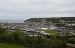Aberystwyth Town 1 Newtown 2, 17/05/2015. Park Avenue, Europa League Play Off final. View of the Park Avenue ground and Aberystwyth. <br /> Aberystwyth finished 14 points above Newtown in the Welsh Premier League, but were beaten 1-2 in the Play Off Final. Photo by Paul Thompson.
