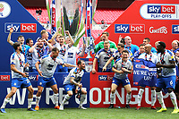 Tranmere Rovers FC celebrate winning the Division Two Play-Off Final during Newport County vs Tranmere Rovers, Sky Bet EFL League 2 Play-Off Final Football at Wembley Stadium on 25th May 2019