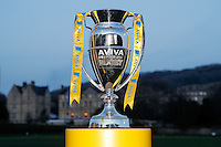 A general view of the Aviva Premiership trophy. Aviva Premiership match, between Bath Rugby and Sale Sharks on March 6, 2015 at the Recreation Ground in Bath, England. Photo by: Rogan Thomson for Onside Images