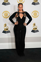 NEW YORK - JANUARY 28: Alicia Keys poses in the press room at the 60th Annual Grammy Awards at Madison Square Garden on January 28, 2018 in New York City. (Photo by Ben Hider/PictureGroup)